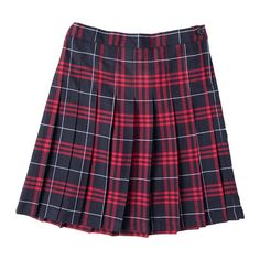 Girls 4-16 Chaps School Uniform Plaid Skirt, Girl's, Size: 6X, Dark Red