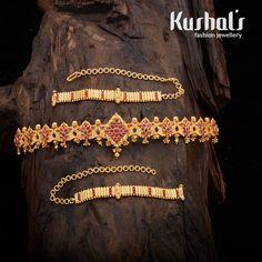 Wedding Jewellery Designs, Bridal Jewelry Sets, Wedding Jewelry, Jewelry Design, India Jewelry, Temple Jewellery, Gold Jewelry, Vaddanam Designs, Denim Clutch Bags