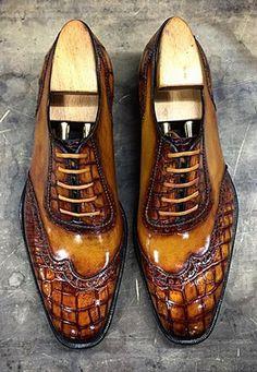 Mens crocodile shoes for sale Women's Shoes, Shoe Boots, Shoes Men, Mens Shoes With Shorts, Comfortable Mens Dress Shoes, Gentleman Shoes, Mens Boots Fashion, Men's Fashion, Leather Dress Shoes