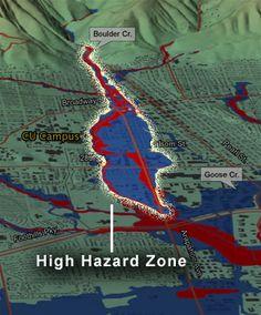 Boulder, Colorado High Hazard Flood Area