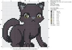 Witch cat. Pattern made by me, original artwork not mine. Link to original can be found on the pattern.