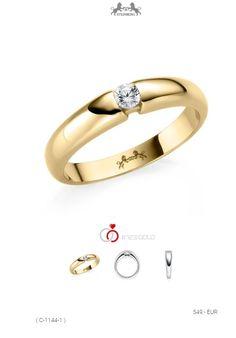 Trauring Hochzeit Ring Echt Gold 585er 14k Vergoldet
