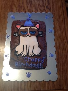 Grumpy Cat Cake Grumpy cat hates your birthday Cakes for