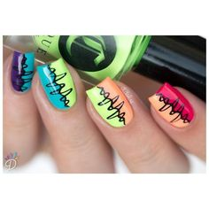 And these sexy Latest Easy Nail Art Designs for Short Nails 2016 will make your cute nails the next most beautiful thing on earth after you. Cute Nail Art Designs, Nail Polish Designs, Sharpie Designs, Awesome Designs, Pretty Designs, Funky Nail Art, Easy Nail Art, Cool Nail Art, Great Nails
