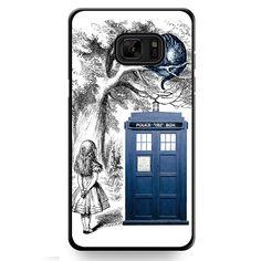 Alice In Wonderland Ceshire Cat Police Box Us TATUM-513 Samsung Phonecase Cover For Samsung Galaxy Note 7