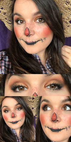 Scarecrow Halloween make-up // All Younique make-up