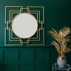 art deco Unusual Home Accessories Art Deco Decor, Art Deco Stil, Art Deco Home, Art Deco Spiegel, Spiegel Design, Glam Mirror, Art Deco Mirror, Gold Wall Mirror, Decorative Wall Mirrors