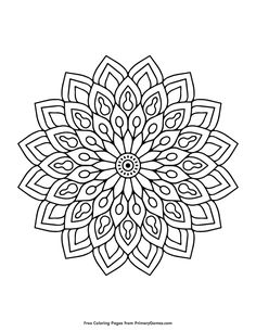 Free printable Spring Coloring Pages eBook for use in your classroom or home from PrimaryGames. Print and color this Flower coloring page.