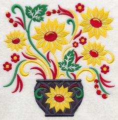 Khokhloma Floral Bouquet
