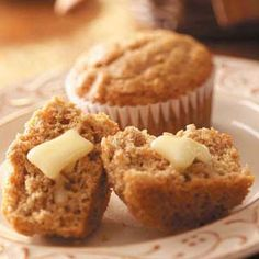 My favorite muffins!  Brown Sugar Oat Muffins.  Add 1 cup shredded carrots and 1 mashed banana for a perfect breakfast treat!  @Jessica Olejniczak