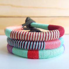 $7.50   Festival Wrap Bracelets   Add a touch of color to your festival fashion outfits with these colorful thread bracelets. Visit my page and see more colors.