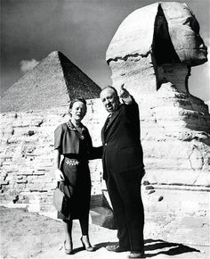 The Unsung Partner'  Alfred Hitchcock and Alma Reville 1955. During filming 'The Man Who Knew Too Much' (1956)