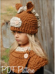 Crochet PATTERN-The Harley Horse Set (Toddler Child and Adult sizes)