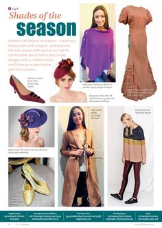 Shades of the season ~ Embrace autumn's colours and follow your own fashion path... #locallife #Farnham #Surrey #style #fashion #inspiration #ideas