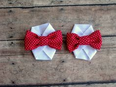 Red Bow Baby Barefoot Sandals by BabyPs on Etsy, $6.00