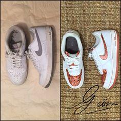 """Before & after  ¡Resultado final! Lo que nuestro cliente piden nosotros los complacemos. Inspirado en """"Hardwork""""de #Gsöm   #kickmakeover  #sneakerhead #airforce1 #nike"""