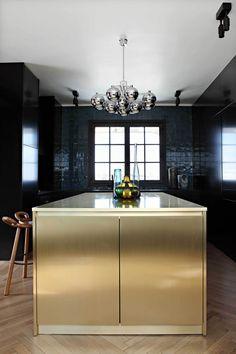 the chic kitchen of a Parisian loft