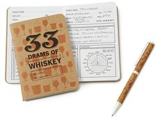 A whiskey-tasting notebook and pen to keep track of your drinking exploits. | 26 Essentials Every Whiskey Lover Should Own