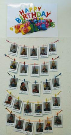 Verjaardagskalender Preschool Birthday, Classroom Birthday, Birthday Wall, Superhero Classroom, Birthday Board, Reggio Classroom, Classroom Setup, Classroom Displays, Classroom Organization