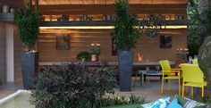 Essa varanda foi projetada com foco na sustentabilidade. A escolha dos materiais e elementos deu o tom rústico ao espaço. Projeto do escritório Cactus Arquitetura e Urbanismo.