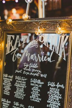 Table seating plan wedding mirror ideas for 2019 City Hall Wedding, Wedding Signage, Wedding Events, Wedding Halls, Weddings, Wedding Reception, Mirror Seating Chart, Seating Charts, Budget Wedding