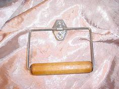Antique Vtg Metal Toilet Paper Holder with Wood Retro As Is #Unknown Seller florasgarden on ebay