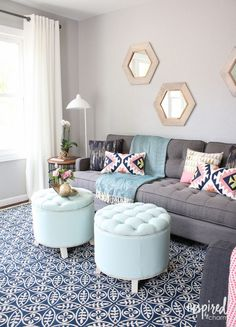Lowe's Fall Makeover Reveal | Living Room Makeover