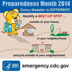 Involve you kids in your emergency preparedness plans. Have them choose designated meet-up spots for different emergencies and practice getting to these spots.
