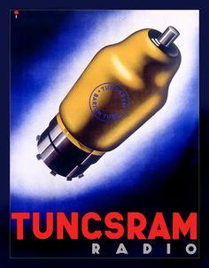 Tungsram Radio Vacuum Tube Advertisement Fine Art Print