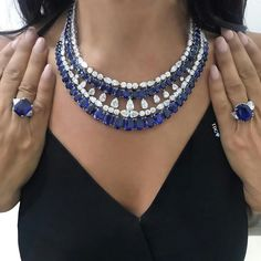 SOME PIECES ARE TRULY EXCEPTIONAL, AND THIS @chatilajewels SAPPHIRE AND DIAMOND NECKLACE IS ONE OF THEM! For those of you who asked to see it on after I had shared it on my story, here it is...And the rings are pretty nice too One of the finest jewellery houses in Bond Street, it's always such a pleasure and honor to meet with @chatilajewels . #thediamondsgirlxlondon #cdxchatila #thediamondsgirl #chatila #chatilajewels #sapphire #diamond #hautejoaillerie