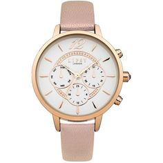 Lipsy Dial Face Watch ($53) ❤ liked on Polyvore featuring jewelry, watches, rose jewellery, dial watches, rose jewelry, rose watches and lipsy watches