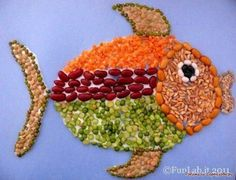 Risultati immagini per collage con granos o semillas Kids Crafts, Creative Crafts, Projects For Kids, Creative Art, Crafts To Make, Art Projects, Arts And Crafts, Paper Crafts, Pasta Kunst