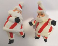 Vintage Howard Holt Lefton Napco Ceramic Santa Christmas Ornaments Clip ons | eBay