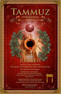 Biblical Month Symbolism: Tammuz, Worship, The Tribe of Reuben, Stone: Carnelian