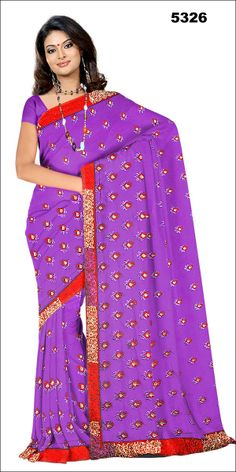 Shop SIXMETER #Casual Wear Purple Silk Saree at 99trendz.com. This is a perfect addition to every women's #Sarees Collection.