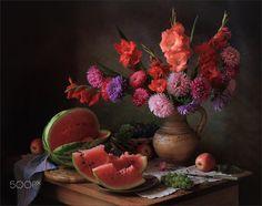 С цветами и арбузом by Tatiana Skorokhod