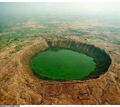 5 breathtakingly beautiful places in India - Lonar Crater, Maharashtra, world's third largest crater