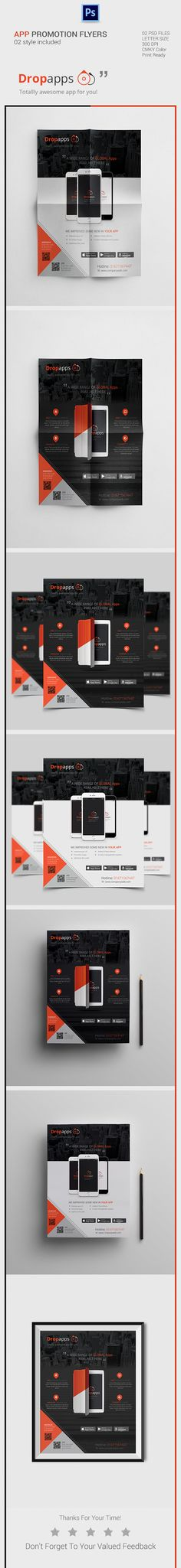 Mobile App Promotional Flyer on Behance