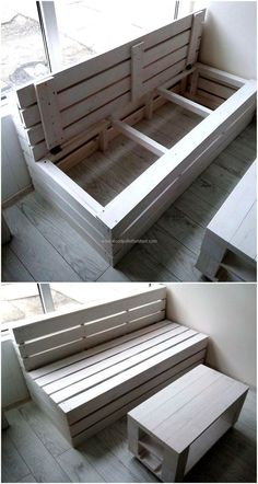 Pallet Furniture with Storage, Wood Pallet