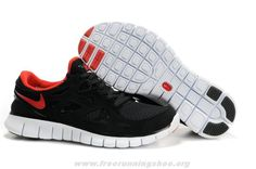 Nike Free Run 2 Mens 443815-003 Black Red