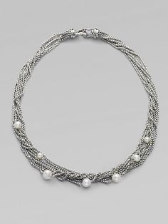 David Yurman - Sterling Silver & Petite Pearl 8 Row Necklace - Saks.com