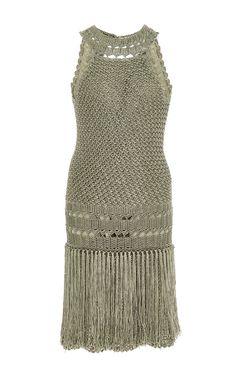 Atacama Drop Waist Dress by Vanessa Montoro for Preorder on Moda Operandi