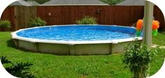 Hybrid Oasis Pool - semi in-ground pool for sloped yard