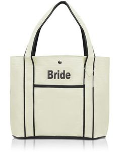 """Fashion Tote Bag Size: 12.25""""H x 16.25""""L x 4.75""""W The Fashion Bride Tote Bag falls into the same category with the traditional tote bags that is comparable, but it comes with more style and grace. With an extra side pocket for additional space, to its contrasting colors and straps running on the entire length, this fashion tote bag carries not only your possessions, but grandeur as well. Use it for trips to the local market and supplies store, or a day trip to the park or the beach. The…"""