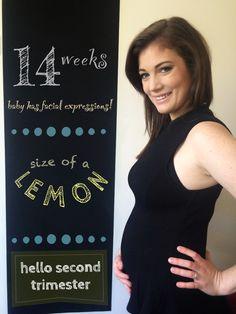 14 weeks pregnant- chalkboard challenge