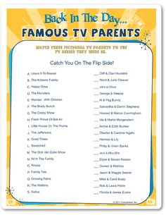 Back In The Day Famous TV Parents