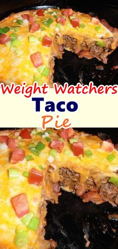 Weight Watchers Taco Pie Here's a favorite! This super-easy taco pie will be a weeknight family favorite. Your family will race to the table when you serve this crescent-crusted taco piein which crushed corn chips add just the right crunch! Weight Watcher Dinners, Menu Weight Watchers, Plats Weight Watchers, Wieght Watchers, Taco Pie Recipes, Ww Recipes, Mexican Food Recipes, Cooking Recipes, Snacks Recipes