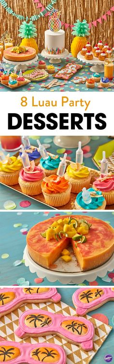 Planning a luau party? We've got 8 delicious and fun desserts that are perfect for your luau party! These treats are also great for a poolside or summertime party.