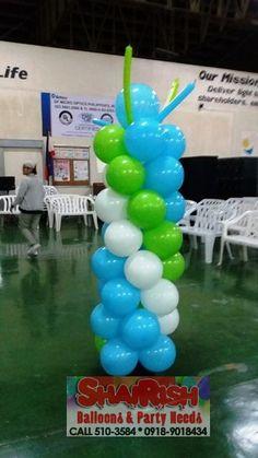 Balloon Pillars, Company Anniversary, Balloons, Cake, Party, Globes, Kuchen, Balloon, Parties