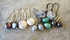 Freshwater Pearl Earrings  Destash Lot of 6 Pairs by LeanneDesigns, $20.00 Shop Sale, Pearl Earrings, Beaded Bracelets, Pairs, Unique Jewelry, Handmade Gifts, Accessories, Vintage, Etsy